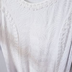 Womens Embroidered Threaded Boho Style Dress
